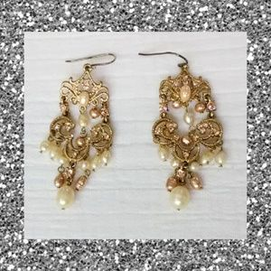 Gold Chandelier Drop Earrings